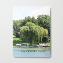 Weeping Willow at the Shoreline Metal Print