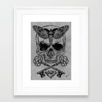 occult Framed Art Prints featuring Occult Desire by Anderson Alves