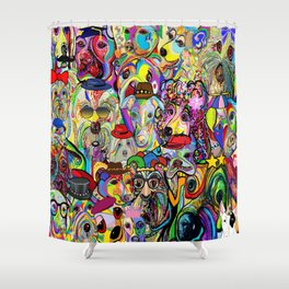 Dogs Dogs Dogs 2 Doggy Dress Up! Shower Curtain