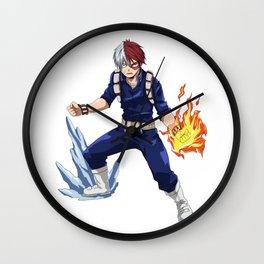 Shoto Todorki - Fire and Ice - My Hero Academia Wall Clock