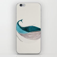 there´s a whale  iPhone & iPod Skin