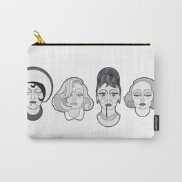 Greta Garbo - B&W Divas Carry-All Pouch