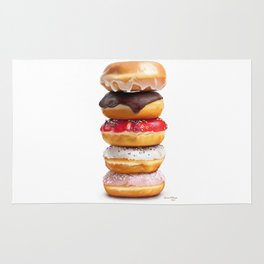 looks yummy, donut ? by dana alfonso Rug