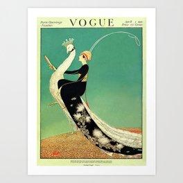 Vintage Magazine Cover - Peacock Art Print