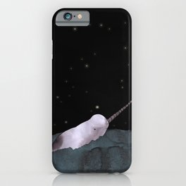 Narwhal's made all those shiny little holes in the night sky iPhone Case