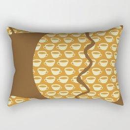 Coffe Bean and Cup Rectangular Pillow