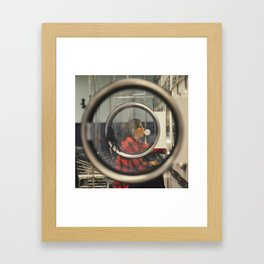 She Makes Laundry Cool Framed Art Print