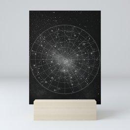 Constellation Star Map (B&W) Mini Art Print