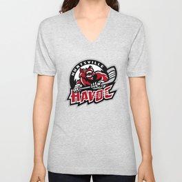 huntsville hockey Unisex V-Neck