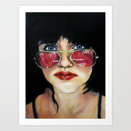 Sunglasses in the Dark Art Print