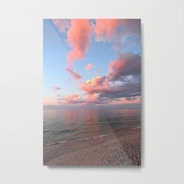 Pink Skies at Night, Vertical Layout Metal Print
