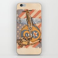 aviation iPhone & iPod Skins featuring Aviation Pinups - P-51 Mustang by Vintage Pinups
