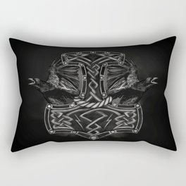Mjolnir - The hammer of Thor and Ravens Rectangular Pillow
