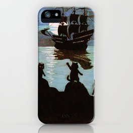 Cats & A Ship - Louis Wain iPhone Case