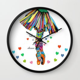 LOVE IS A DANCE Wall Clock