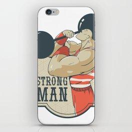 Strongman Weightlifting iPhone Skin