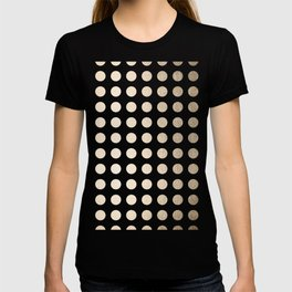 Simply Polka Dots in White Gold Sands T-shirt