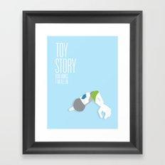Toy Story Movie Poster. Framed Art Print