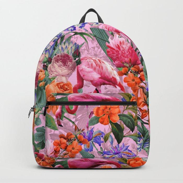 Floral and Flemingo VI pattern Backpack