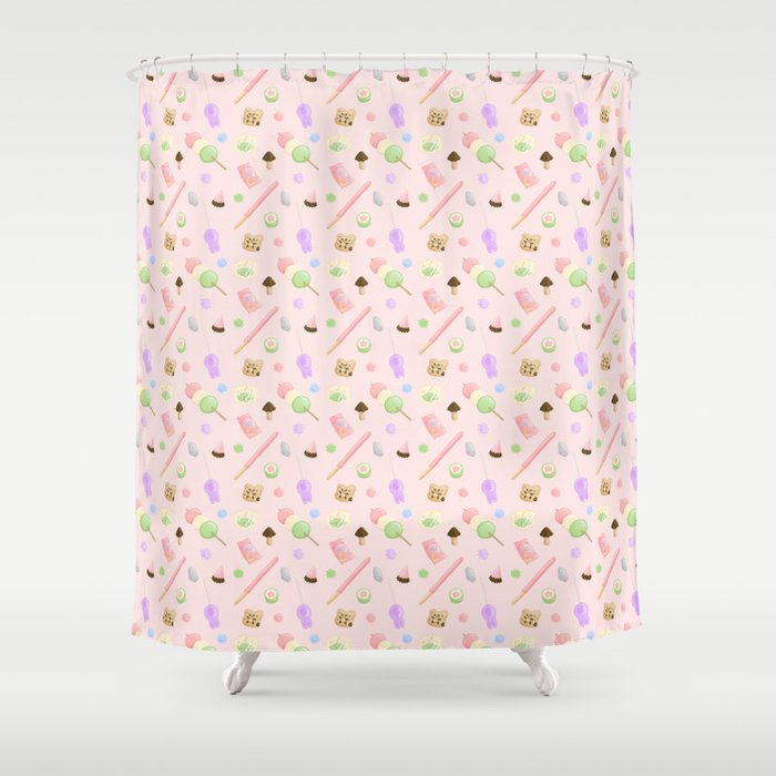 Weeaboo Candy Shower Curtain By Sarahwrightart