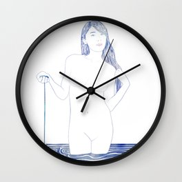 Water Nymph XC Wall Clock