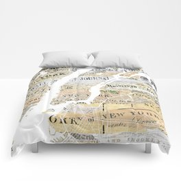New York map Comforters