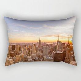New York City Sunset - Midtown Rectangular Pillow