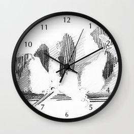 Shadows #2 Graphite Wall Clock