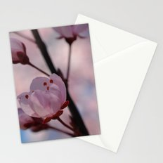 Pink Cherry Blossom Flowers Stationery Cards