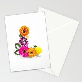 L initial art Stationery Cards