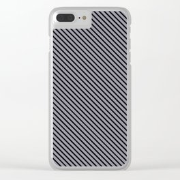 Lilac Gray and Black Stripe Clear iPhone Case