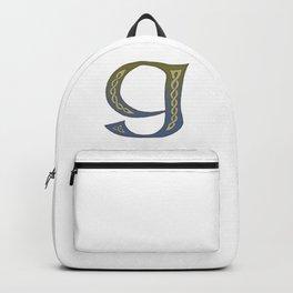 Celtic Knotwork Alphabet - Letter G Backpack