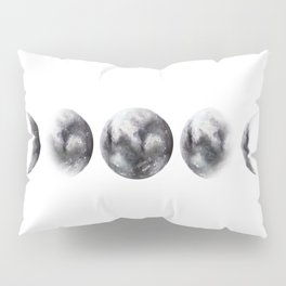 Moon phases watercolor painting Pillow Sham