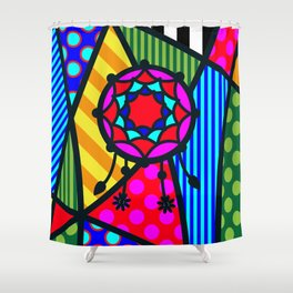 Lucky Dreamcatcher SQuare Shower Curtain