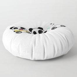 Three Little Pandas Floor Pillow