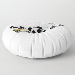 Three Little Pandas Floor Pillow