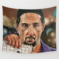 jesus Wall Tapestries featuring Jesus Quintana. by Jonathan  Bergeron