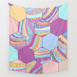 BRAIDSHEXSUMMER Wall Tapestry