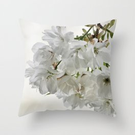 SPRING BLOSSOMS - IN WHITE - IN MEMORY OF MACKENZIE Throw Pillow