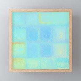 Rainbow Frosted Glass Pattern Framed Mini Art Print