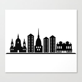 turin skyline Canvas Print
