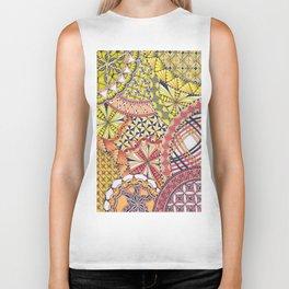 Zentangle Inspired Art - Autumn/ Fall Colours Biker Tank