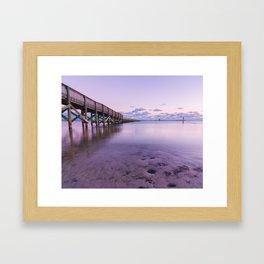 Shoreline Park Pier I Framed Art Print