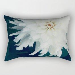 White Dahlia Rectangular Pillow