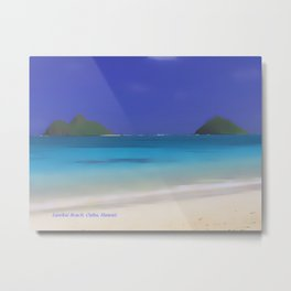 Lanikai Beach #2 Metal Print