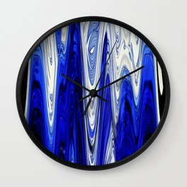 Zigzag Cobalt Blue Wall Clock