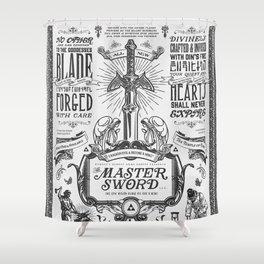 Legend of Zelda Vintage Master Sword Advertisement Shower Curtain