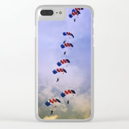 RAF Falcon Stack Formation Clear iPhone Case
