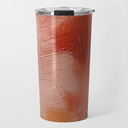 Desert Journey [1]: a textured, abstract piece in pinks, reds, and white by Alyssa Hamilton Art Travel Mug