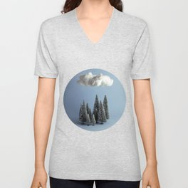 A cloud over the forest Unisex V-Neck